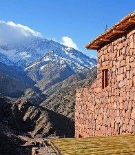 Aussergewöhnliche Hotels: Kasbah du Toubkal, Blick ins Gebirge