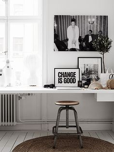 work nook - styled by Lotta Agaton