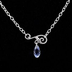 Sterling Silver Necklace Swirl Vine Connector by liliflurcreations, $32.00