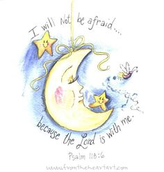 Moon and Stars Print (Psalm 118:6)