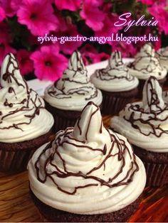 Sylvia Gasztro Angyal: Kakaós muffin fehér csokoládés mascarponés kalappa...