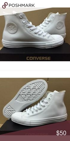 All white converse unisex brand new Chuck Taylors Brand new without box! All white. Converse Shoes Athletic Shoes