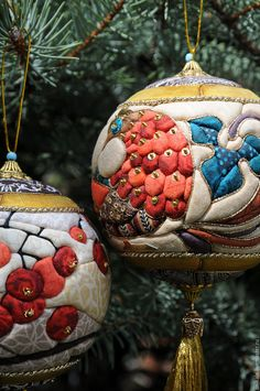 Купить Новогодний шар - украшение на елку, новогодний шар, handmade, ручная работа, авторская работа