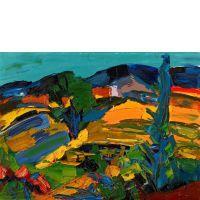 Pierre AMBROGIANI (Ajaccio, 1907 - Allauch, 1985) Paysage de Provence Huile sur toile