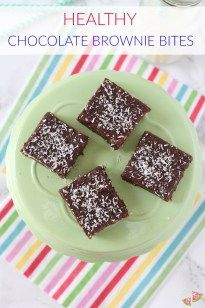 Packed with nutritious ingredients including prunes, dates, nuts and flaxseed, these delicious Raw Chocolate Brownie Bites make a great snack for kids and adults too!