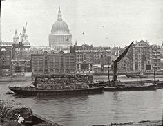 vintage everyday: The Thames of Old London in the 1910s and 1920s