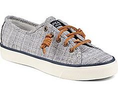 Seacoast Cross Hatch Sneaker, Navy/Ivory