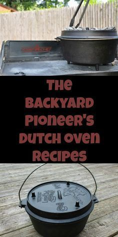 The Backyard Pioneer's Dutch Oven Recipes. A collection of original recipes … The Backyard Pioneer's Dutch Oven Recipes. A collection of original recipes and those from trusted sources. Fire Cooking, Cast Iron Cooking, Oven Cooking, Skillet Cooking, Skillet Recipes, Cooking Corn, Dutch Oven Camping, Campfire Dutch Oven Recipes, Cast Iron Recipes
