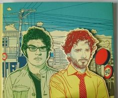 I heart this Flight of the Concords art.