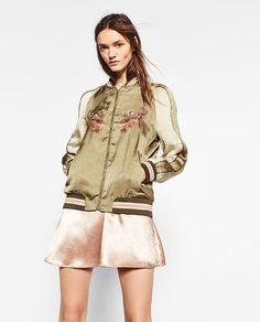 Zara ethnic embroidered jacket size S