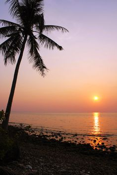 Sunsets on Lonely Beach in Koh Chang