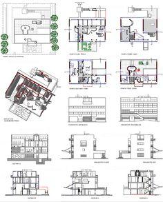 Corbusier maison roche jeanneret dwg archi pinterest for Chaise longue dwg