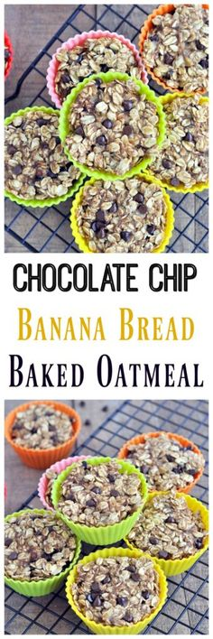 This super easy Banana Bread Baked Oatmeal is the perfect breakfast on the go. It's nut free, so it's perfect for lunch boxes too. Vegan and gluten free.
