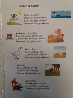 Versje bij thema Kikker is Kikker I Feel You, Close Reading, Back To School, Activities For Kids, Abs, Teaching, Feelings, Comics, Projects