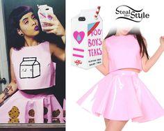 Melanie Martinez: Pink Vinyl Top & Skirt