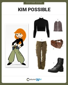 Kim Possible is the cheerleading, homework completing, teenage superhero on the Disney Channel. halloween costumes diy : Kim Possible is the cheerleading, homework completing, teenage superhero on the Disney Channel. Kim Possible Cosplay, Kim Possible Kostüm, Kim Possible Halloween Costume, Kim Possible Outfit, Cosplay Casual, Cosplay Outfits, Cosplay Dress, Traje Casual, Disney Channel