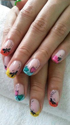 Uñas Gaia, Triangles, Cute Nails, Nailart, Nail Designs, Beauty, Frases, Polish Nails, Summery Nails