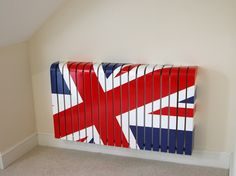 This retro, Union Jack radiator cover is a great way to disguise an old, dated radiator.