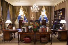 Ornamenten en lijsten van het schippertje bij de Butler academy in de executive office te huize damiaan
