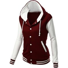 Xpril Women's Stylish High Quality Fabric Hoodie Baseball Jacket Overcoat