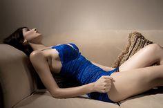 2015春装夜店性感透明蕾丝透视吊带包臀深V领连衣裙紧身超短裙-淘宝网