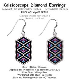 Kaleidoscope Diamond Earrings | Bead-Patterns.com