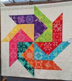 Spinner quilt by Leanne Harvey, photo by Rachel Daisy | Blue Mountain Daisy