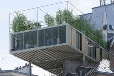 Parasitic prefabs mounted atop buildings create affordable green housing in Paris