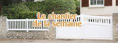Pose d'une clôture et 2 portails à Chartres par nos techniciens