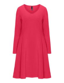 Manon Baptiste A-line cotton blend dress in Red