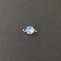 Vintage Etched Swirl Light Sapphire Glass Stone by yummytreasures, $3.49