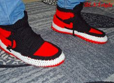 Nike Air Jordan Shoes Crochet Converse Slippers Adult by BENIstyle