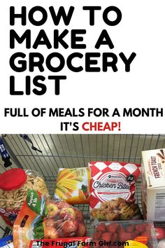 """How many times have you left the grocery store saying, """"The price of food continues to rise?"""" Or what I used to say all the time, """"How did it come to that much? Here's how to meal plan and grocery shop on a budget. Grocery Savings Tips, Make A Grocery List, Grocery Store, Grocery Lists, Healthy Groceries, Save Money On Groceries, Groceries Budget, Frugal Meals, Budget Meals"""