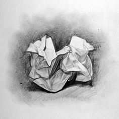 crumpled paper drawing - Google Search