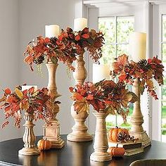 44 Easy and Practical DIY Fall Decor Ideas. To create a fantastic fall decoration you will need a brilliant idea and some unusual elements. If you wish to save a few of these fabulous DIY fall decor i. Candle Rings, Autumn Decorating, Fall Outdoor Decorating, Fall Decor Outdoor, Deco Floral, Deco Table, Fall Home Decor, Autumn Decor Living Room, Dyi Fall Decor