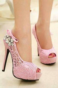 Pink high heel shoes :-)
