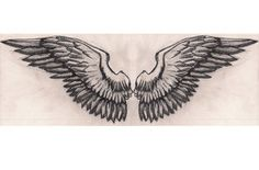 Wings tattoo by Medicine Wolf