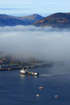 Gourock Pier viewed from Lyle Hill, Greenock, Scotland | by David May