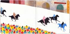 Siena, the Palio. from Adam McCauley's beautiful sketchbook, chronicling his recent trip to Italy and the UK. So proud to say Adam is Mr. Dog's illustrator! @mrdogschristmas