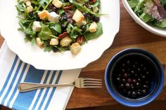 Blueberry & Brie Salad with Puff Pastry Croutons by Dianna Muscari of The Kitchen Prep Blog