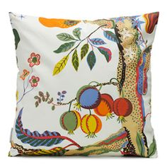 Discover cushions in beautiful colours and timeless patterns from Svenskt Tenn; unique sofa cushions in classic design that can change an entire interior. Funky Fruit, Printed Cushions, Nautical Theme, Decor Interior Design, Textile Design, Decorative Pillows, Print Patterns, Digital Prints, Tropical