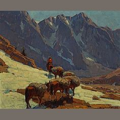 Edgar Payne (1883-1947) Sierra Pass  28 x 34in