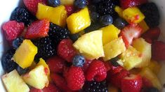 How to Make a Summer Fruit Salad #stepbystep