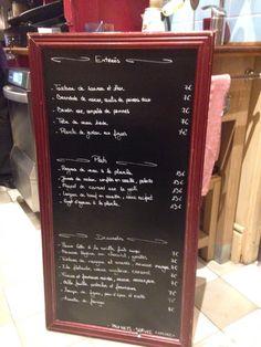 Le Comptoir du Marché - Nice, Francia. Une des carte du jour