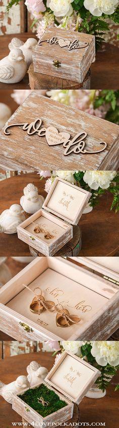 We Do ! Rustic Wooden Ring Box #weddingideas