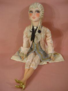 ANTIQUE FRENCH BOUDOIR DOLL/POUPEE DE SALON ANCIENNE/1925/ART DECO/FASHION DOLL | Dolls & Bears, Dolls, Antique (Pre-1930) | eBay!