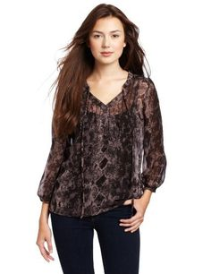 LAmade Women's Henley Blouse LAmade. $86.00. Pleating at the shoulder and front seam. polyester. Hand Wash. 3/4 banded sleeve. Made in China
