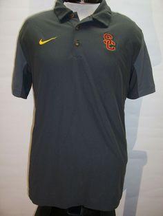 8eebdc29 /NIKE USC TROJANS Large L Dri-Fit Polo shirt Combined ship discount #fashion