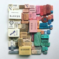 I had no idea erasers could ever be beautiful until this lovey #crafttherainbow by @lisacongdon