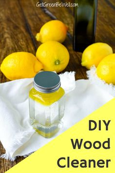 Clean and shine wood furniture and kitchen utensils with this easy DIY wood cleaner and polish. Grab the ingredients from your pantry to make a batch right now! #greencleaning #homesteading Homemade Cleaning Supplies, Cleaning Recipes, Cleaning Hacks, Cleaners Homemade, Diy Cleaners, Natural Disinfectant, Lemon Olive Oil, Green Living Tips, Natural Cleaners